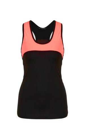 sporttop zwart/oranje