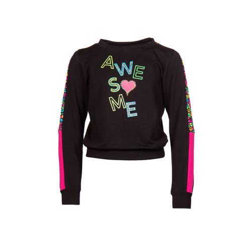 Papillon sportsweater zwart/multi