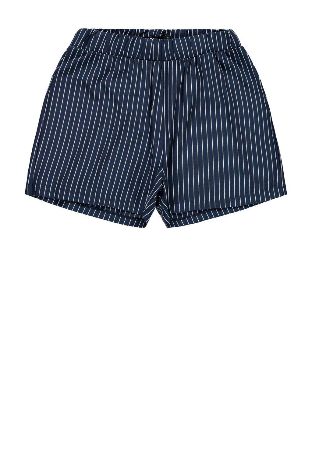 LMTD gestreepte short Babara donkerblauw/wit, Donkerblauw/wit