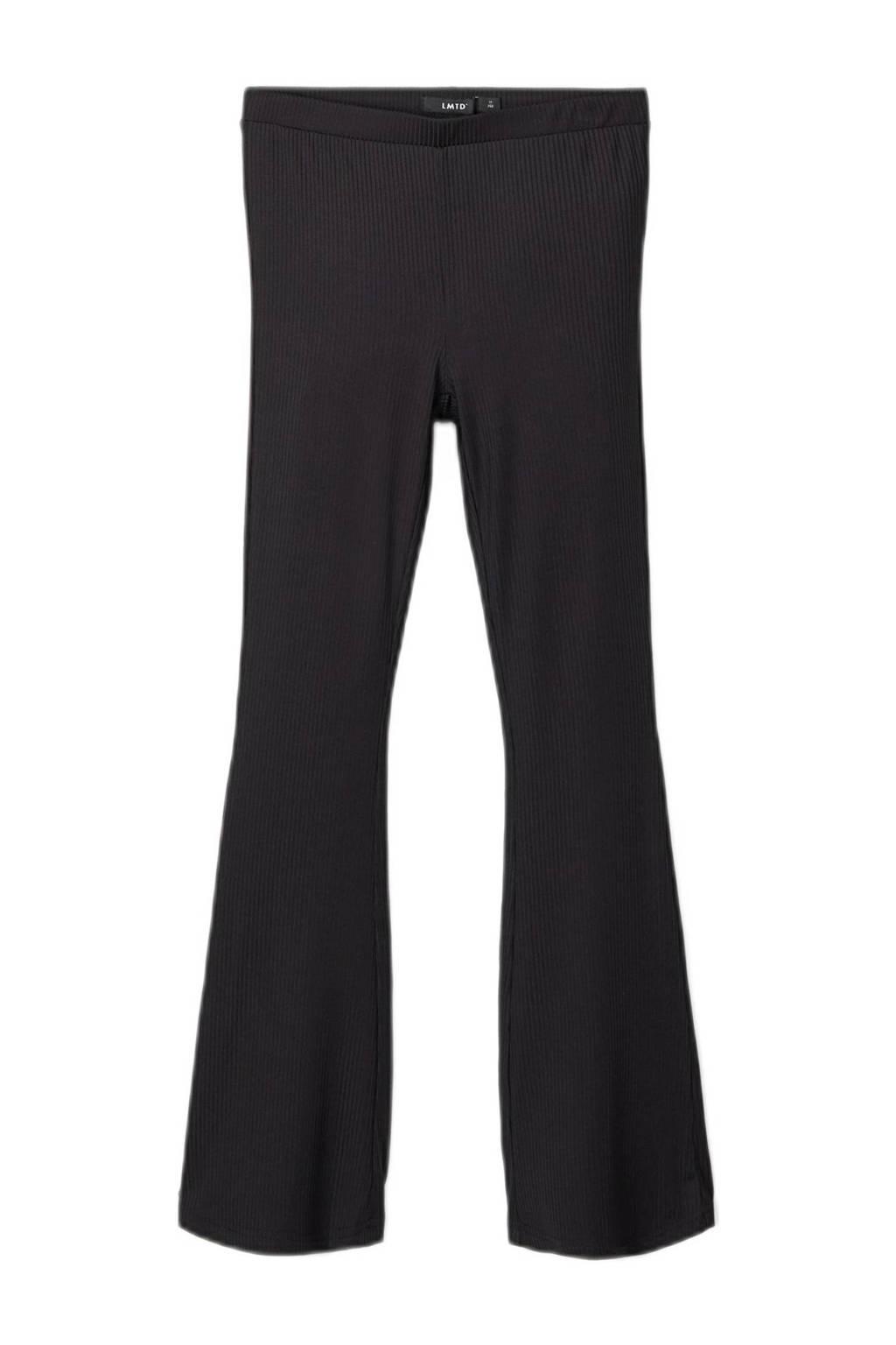 LMTD flared broek Dina zwart, Zwart