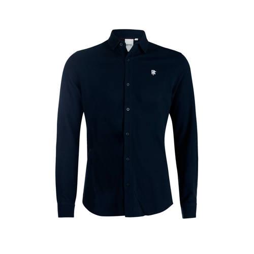 Refill by Shoeby slim fit overhemd met logo darkbl