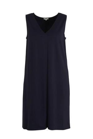 jurk en plooien donkerblauw