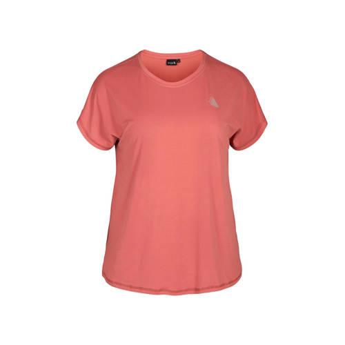 ACTIVE By Zizzi Plus Size sport T-shirt roze