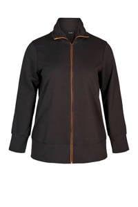 ACTIVE By Zizzi Plus Size sportvest zwart, Zwart
