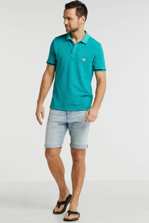slim fit polo groen/zwart