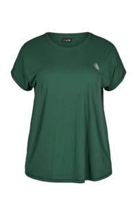 ACTIVE By Zizzi Plus Size sport T-shirt groen, Groen