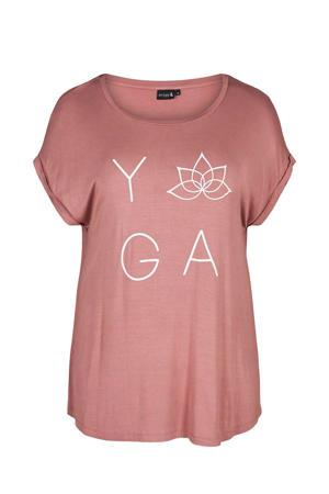Plus Size sport T-shirt oudroze