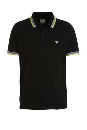 slim fit polo zwart/wit/groen
