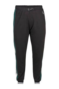 ACTIVE By Zizzi sportbroek zwart/groen/wit, Zwart/groen/wit