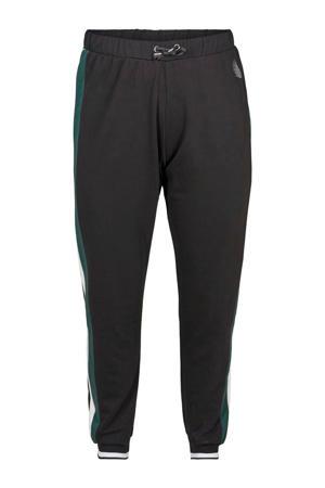 sportbroek zwart/groen/wit