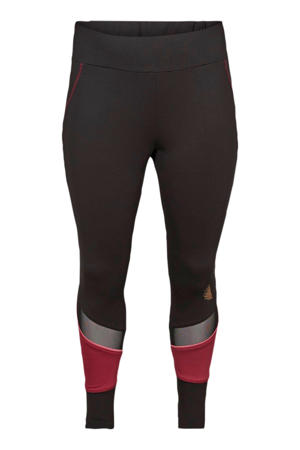 7/8 sportbroek zwart/roze