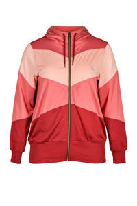 ACTIVE By Zizzi Plus Size sportvest rood/roze, Rood/roze