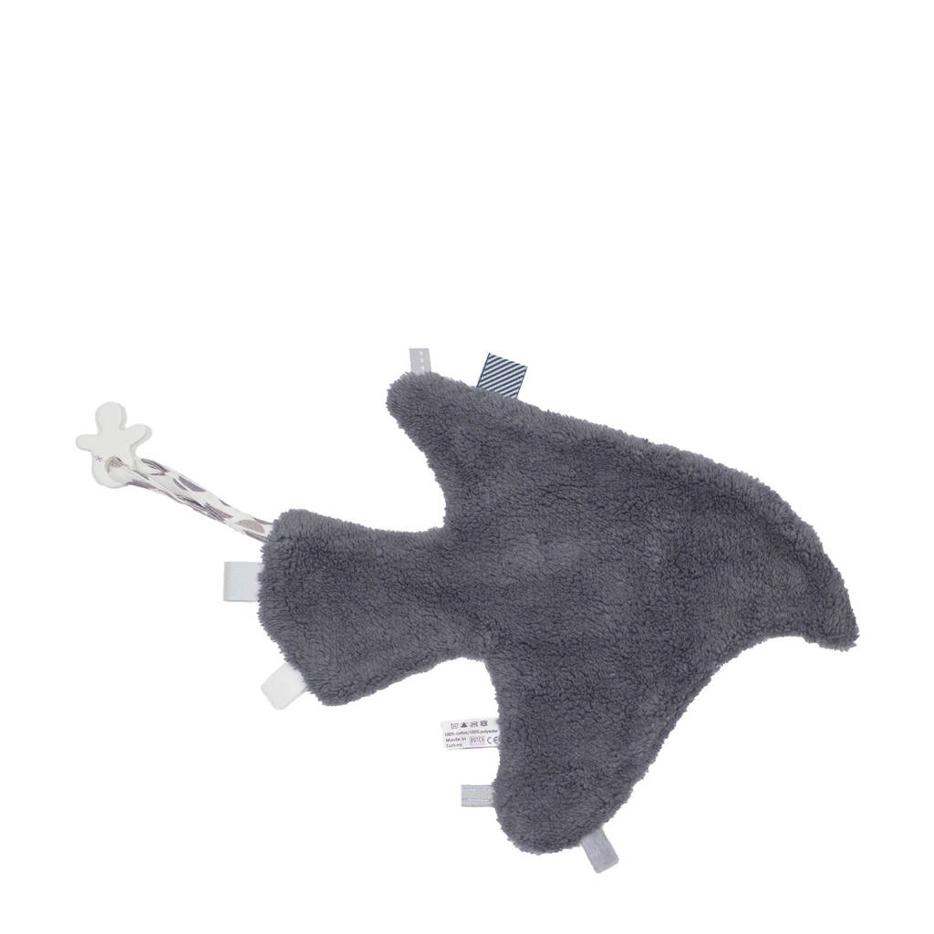 Snoozebaby Comfort Toy Bird Blanket knuffeldoekje, Frost grey