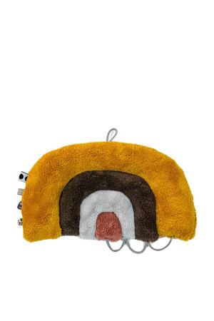 regenboog knuffelpuzzel oker/bruin