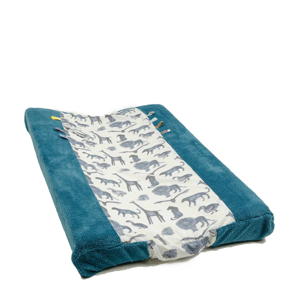 Snoozebaby aankleedkussenhoes storm blue 45x70 cm, Storm Blue