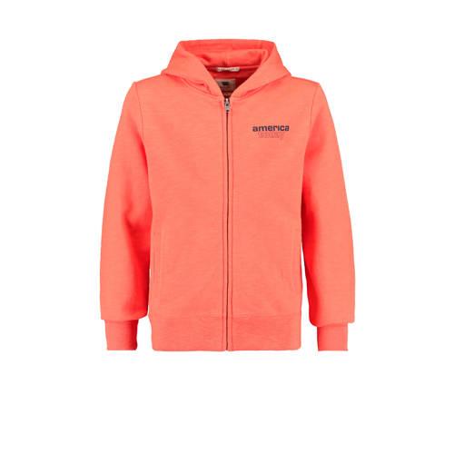 America Today Junior vest Sebas met tekst orange/b