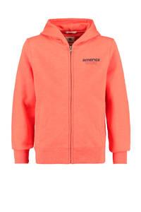 America Today Junior vest Sebas met tekst orange/blauw, Orange/blauw
