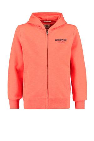 vest met tekst orange/blauw