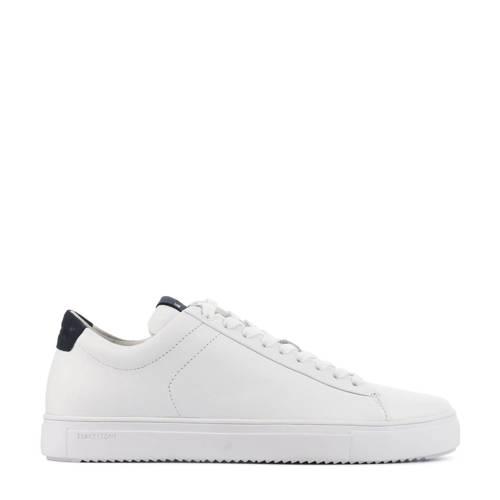 Blackstone nubuck sneakers wit/donkerblauw