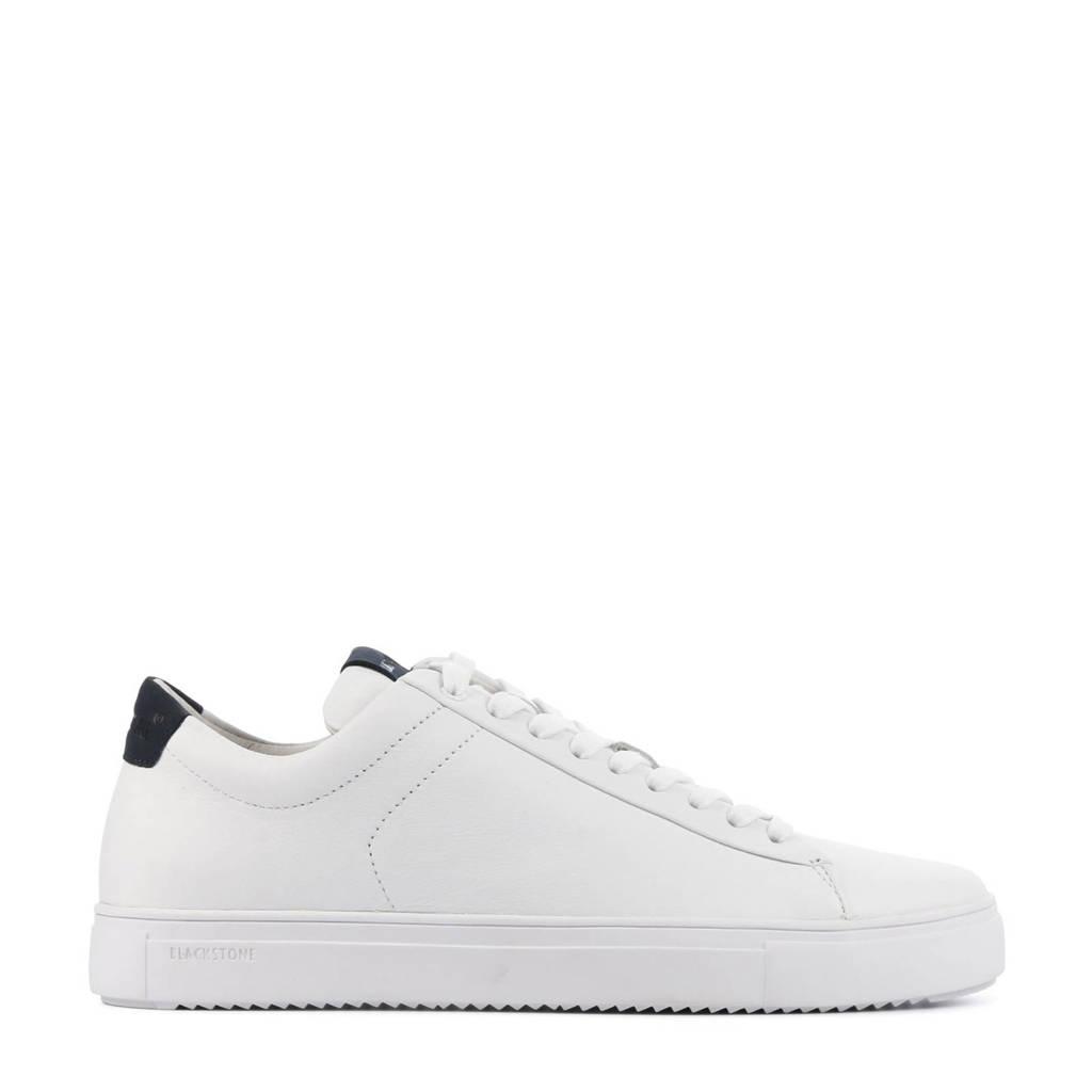 Blackstone   nubuck sneakers wit/donkerblauw, Wit/blauw