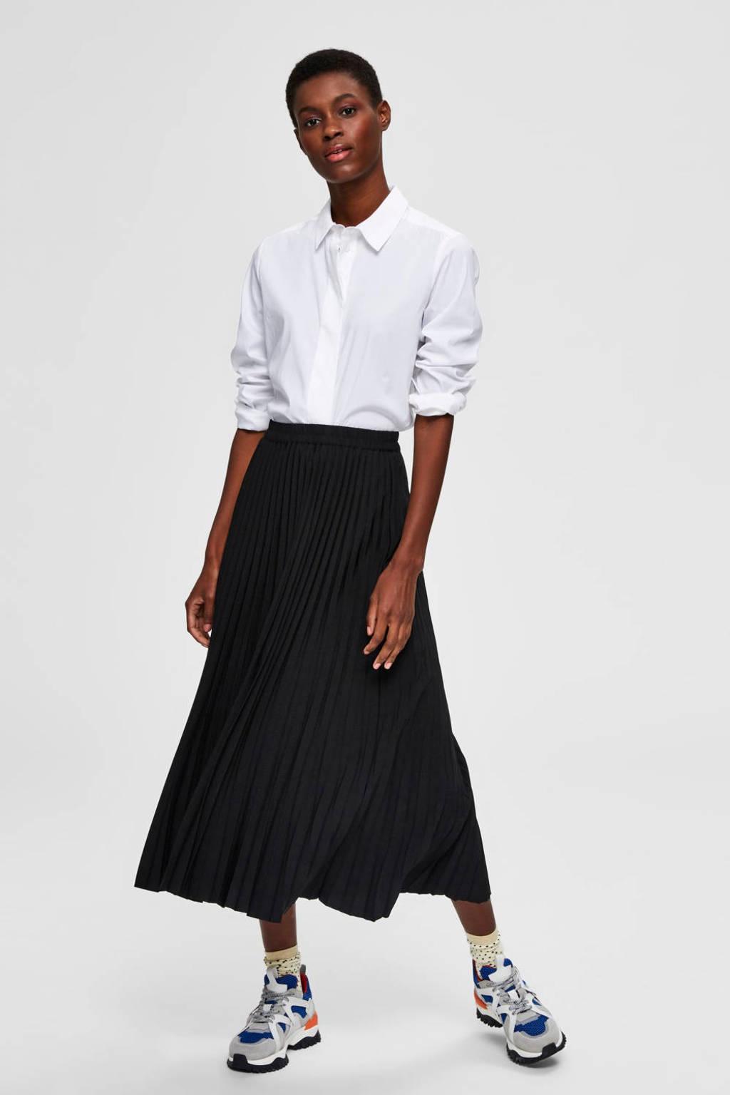 SELECTED FEMME rok SLFALEXIS zwart, Zwart