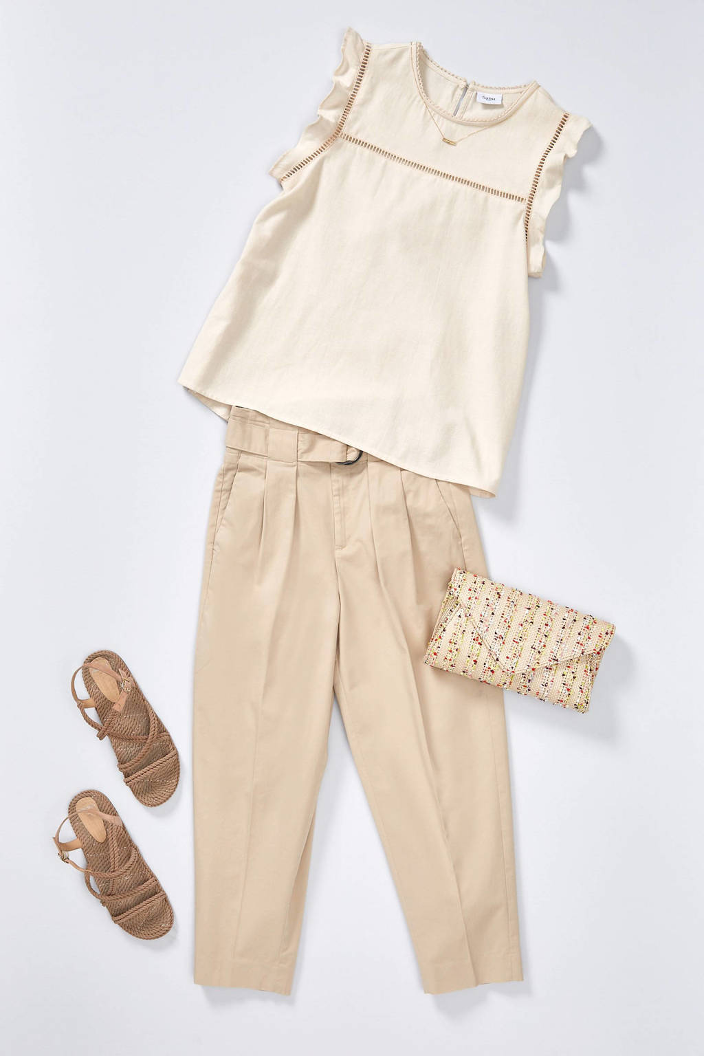 Manfield   sandalen taupe, Taupe