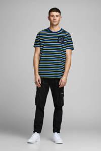 JACK & JONES CORE gestreept T-shirt donkerblauw/wit/zwart/geel, Donkerblauw/wit/zwart/geel