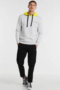 JACK & JONES CORE hoodie lichtgrijs/geel, Lichtgrijs/geel
