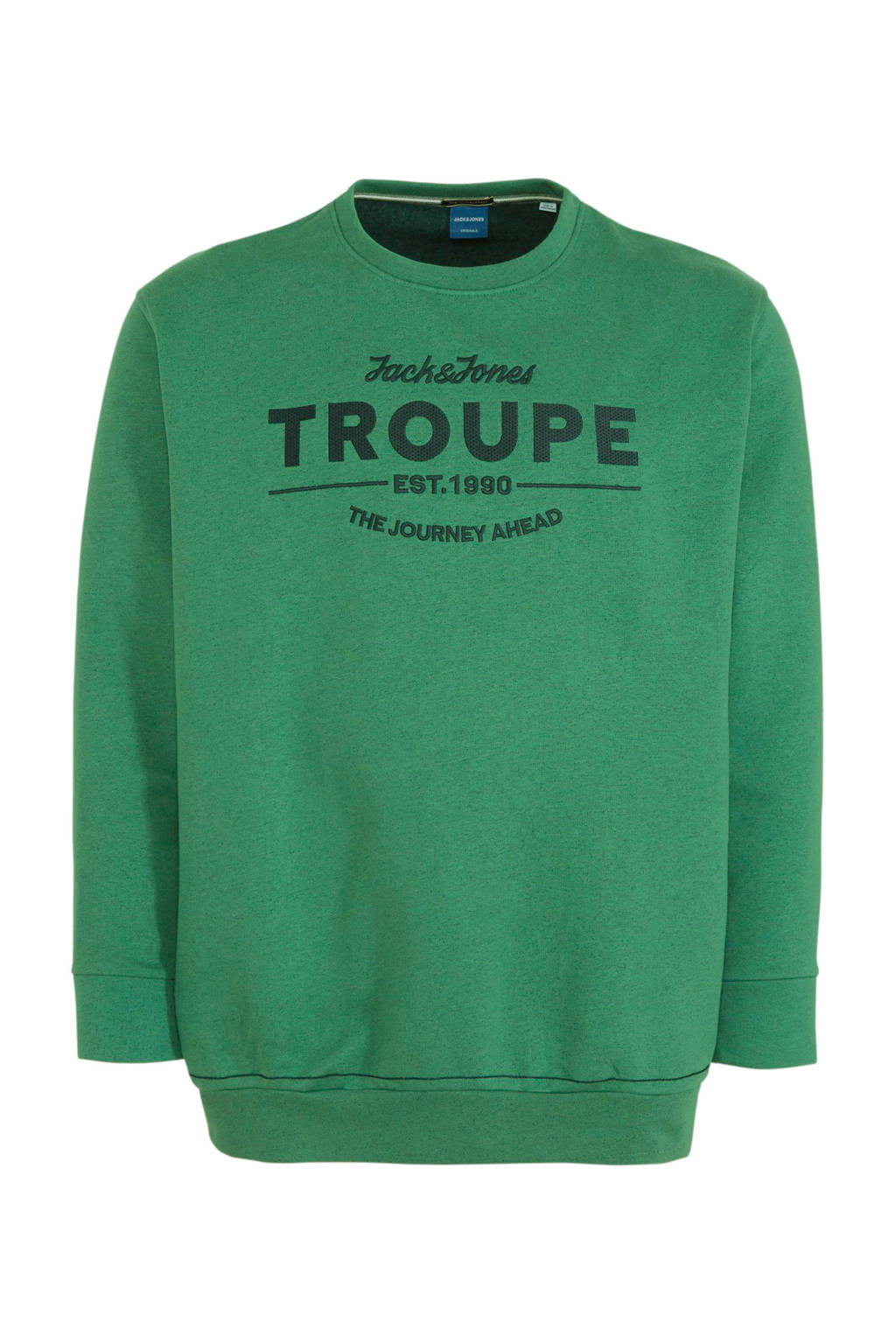 JACK & JONES PLUS SIZE sweater met printopdruk groen, Groen