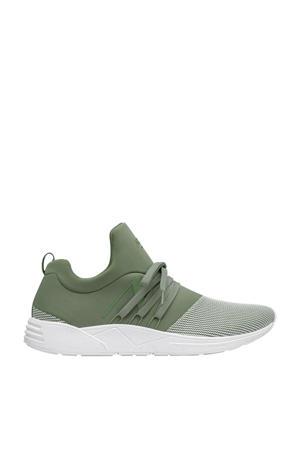 Raven s-e15 sneakers groen/wit