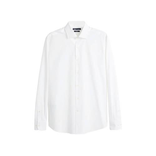 Mango Man slim fit overhemd wit