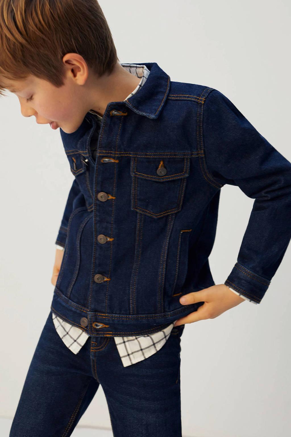 Mango Kids spijkerjas donkerblauw, Donkerblauw