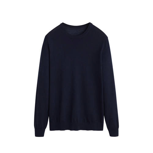 Mango Man wollen trui marineblauw