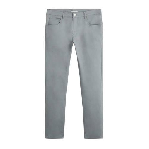Mango Man slim fit pantalon grijs