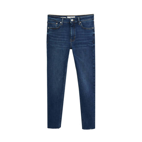 Mango cropped skinny jeans blue denim
