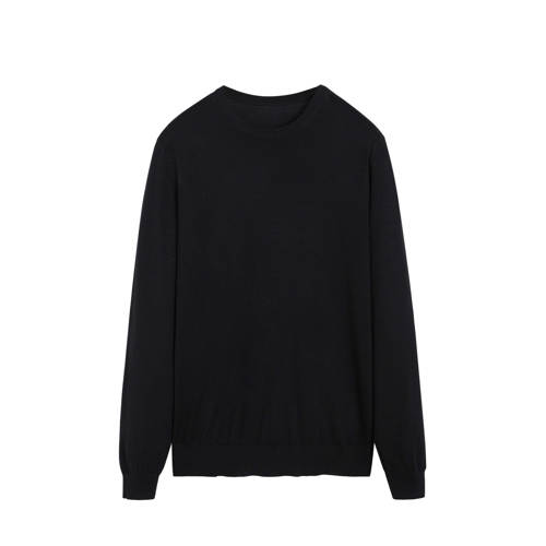 Mango Man wollen sweater zwart