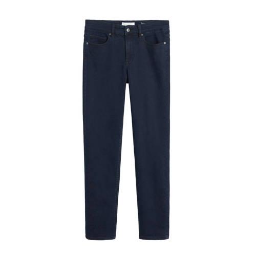 Violeta by Mango slim fit jeans donkerblauw