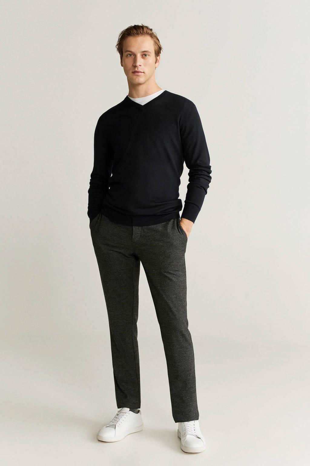 Mango Man wollen trui zwart, Zwart