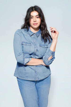 blouse blue denim