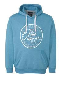 C&A XL Angelo Litrico hoodie met printopdruk lichtblauw, Lichtblauw