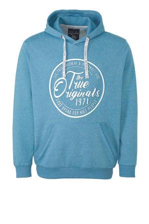 hoodie met printopdruk lichtblauw