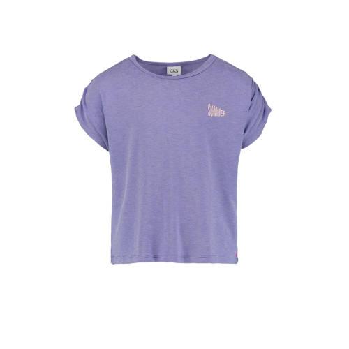 CKS KIDS gestreept T-shirt Isis paars