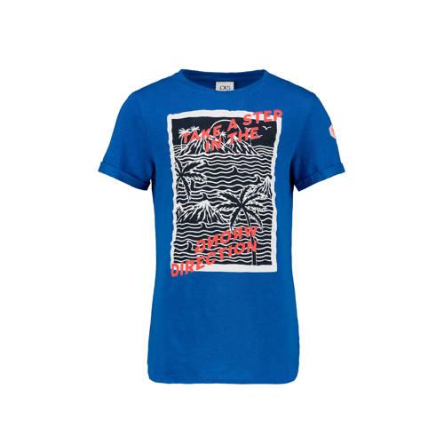 CKS KIDS T-shirt Yarles met printopdruk kobaltblau