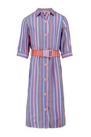 gestreepte blousejurk Infer lichtblauw/lila/roze