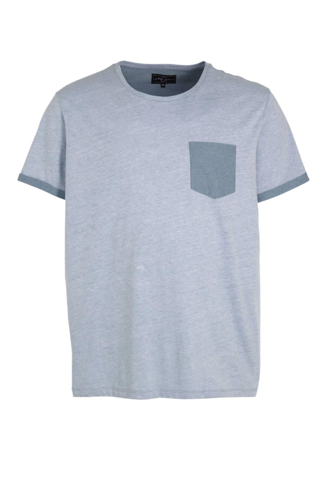 URBN SAINT T-shirt blauw, Blauw