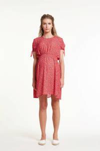 GeBe Maternity zwangerschapsjurk Rose met all over print rood, Rood