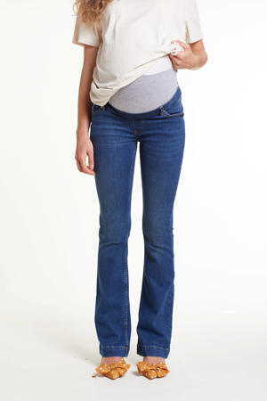flared zwangerschapsjeans China dark denim