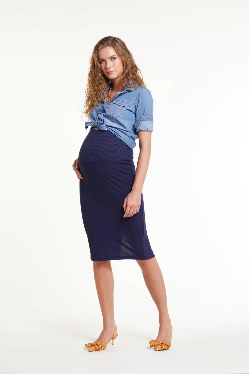 GeBe Maternity zwangerschapsrok Nora donkerblauw, Donkerblauw