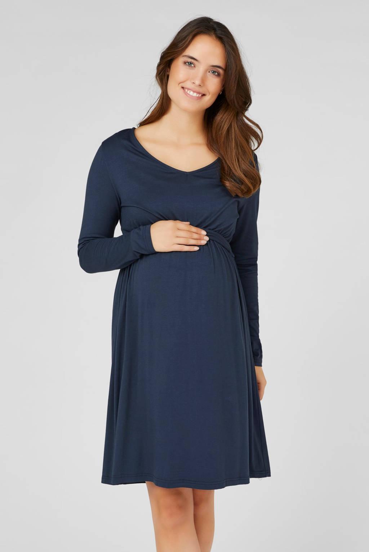 MAMALICIOUS zwangerschapsjurk met plooien donkerblauw, Donkerblauw