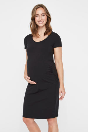 zwangerschapsjurk met biologisch katoen zwart